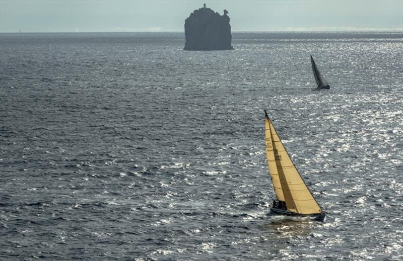 Strombolicchio, the northernmost mark of the Rolex Middle Sea Race - photo © Rolex / Kurt Arrigo