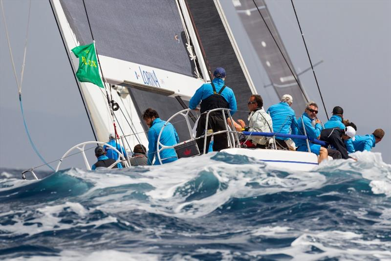 Jean-Pierre Barjan's Lorina 1895 disappears in the waves shortly after today's start. - 2019 Rolex Giraglia - photo © IMA / Studio Borlenghi
