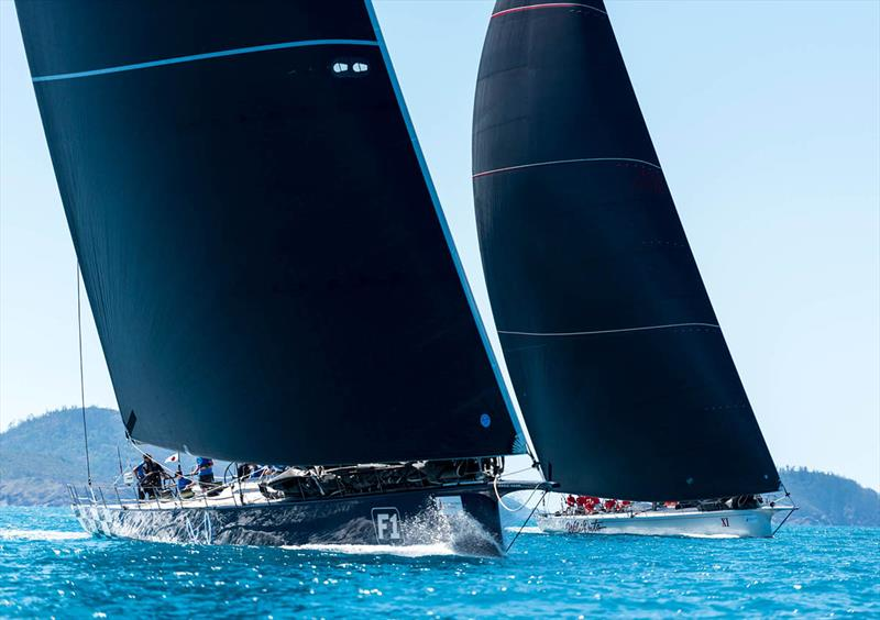 Black Jack and Wild Oats XI go head-to-head - Hamilton Island Race Week 2018 - photo © Kurt Arrigo