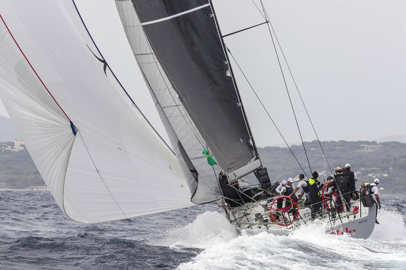 The race was going well for Marton Jozsa's Wild Joe until her Code 0 lock broke. photo copyright ROLEX / Studio Borlenghi taken at Yacht Club Italiano and featuring the IRC class
