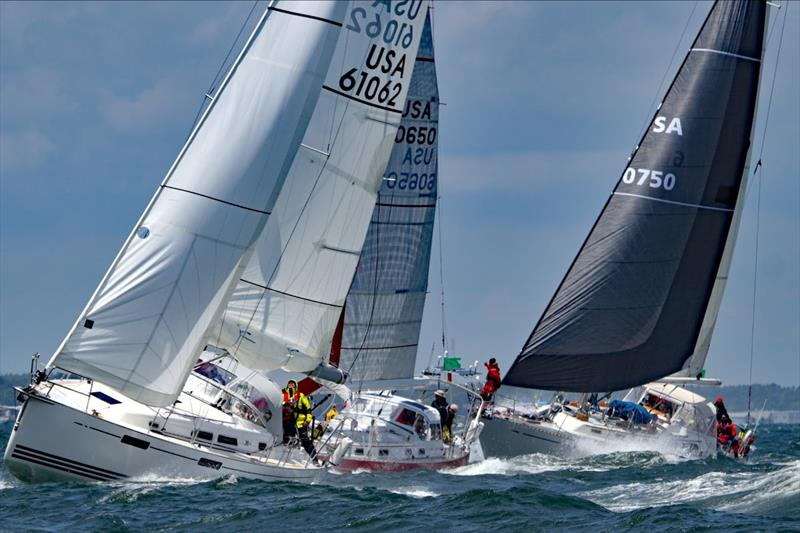 Of the class leaders, Elena, (60750) Steve Gordon's Alden 50 from Stamford CT, was the farthest boat to the west. She was 334 miles from the finish steering 152º. Elena won Block Island 2019 and is the leader here in Class C. - photo © Fran Grenon, spectrum Photo