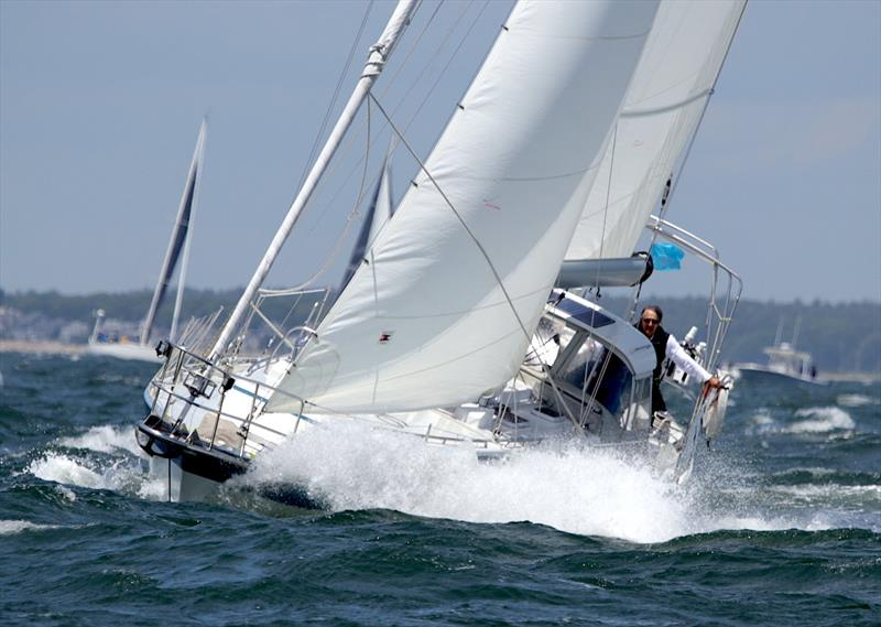 Roy and Gail Greenwald's Valiant 42 Cordelia has finished first in fleet on corrected time in the 2019 Marion Bermuda Race. She will win the Goslings Founders Trophy. The Greenwalds sail out of Mairon MA. Cordelia is also the Class D winner. © Fran Grenon, Spectrum Photo