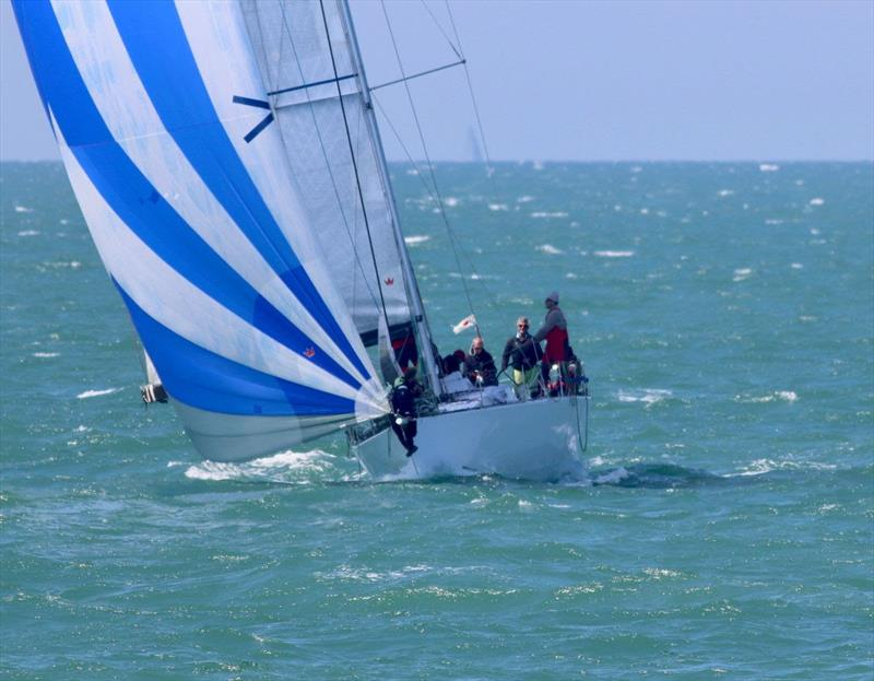 Corby 45 Incisor under kite on her way to a strong finish in Dieppe - 2019 RORC Morgan Cup - photo © Rick Tomlinson / RORC
