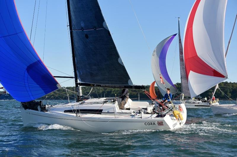 Nigel & Tim Goodhew Sunfast 3200 Cora - RORC Cowes Dinard St Malo Race - photo © Rick Tomlinson / RORC