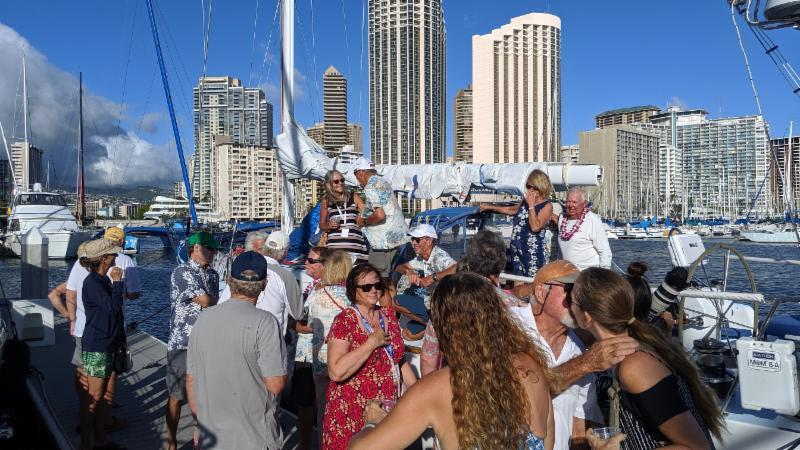 Ho'okolohe attracted a dock-crushing Aloha crowd - Transpac 50 - photo © Janet Scheffer / ManaMeans