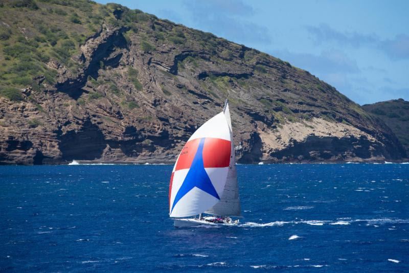 Brigadoon passing Koko Head in final high-speed reach to Diamond Head - Transpac 50 - photo © Sharon Green / Ultimate Sailing