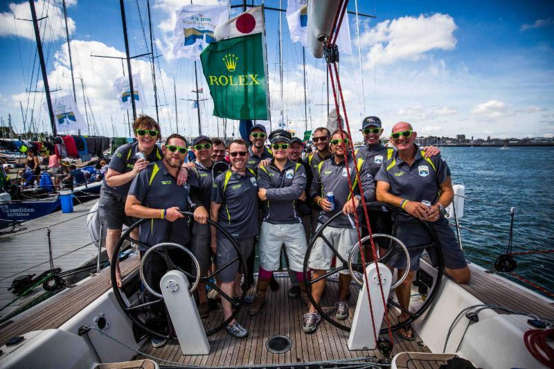 Lutine in Plymouth at the finish in 2017 Rolex Fastnet Race - photo © ELWJ Photography