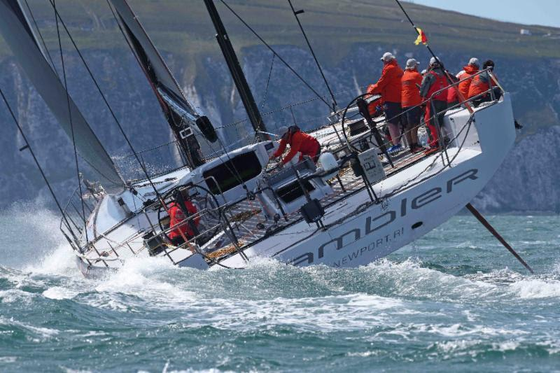 George David's American Rambler 88 - 2017 Rolex Fastnet Race photo copyright Rick Tomlinson / www.rick-tomlinson.com taken at Royal Ocean Racing Club and featuring the IRC class
