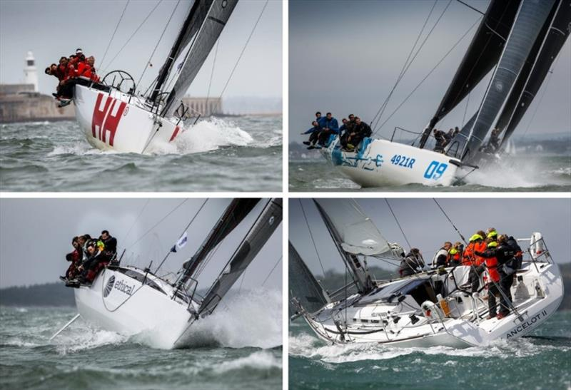 Ker 40 Keronimo, HH42 Ino XXX, JPK 11.80 Sunrise, First 40 Lancelot II - RORC Channel Race - photo © Event Media