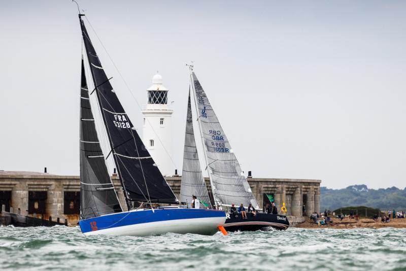 Léon, the JPK 10.30, sailed by Alexis Loison and Jean-Pierre Kelbert at the start of the 2019 Rolex Fastnet Race - photo © Paul Wyeth / www.pwpictures.com