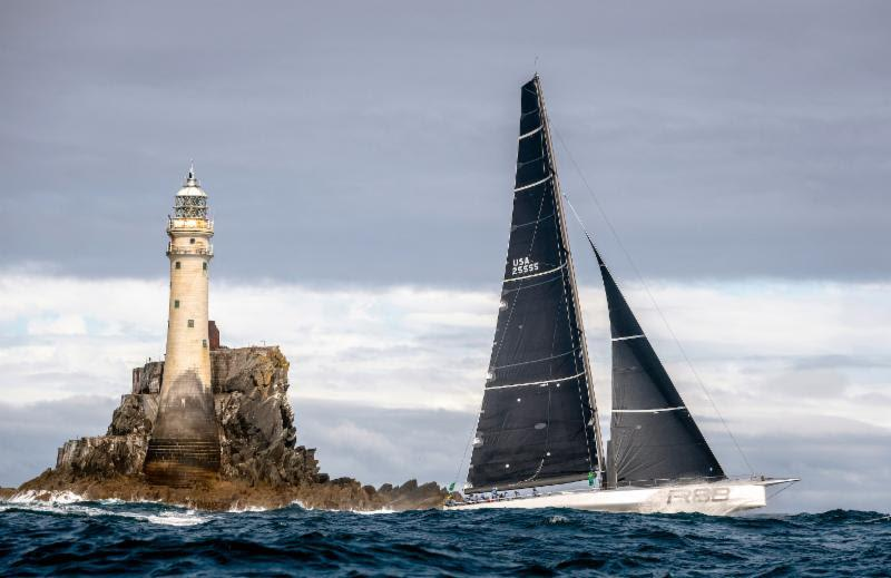 Rambler 88 set a new monohull record from Cowes to the Fastnet Rock and finished to claim monohull line honours - 2019 Rolex Fastnet Race - photo © Rolex / Kurt Arrigo