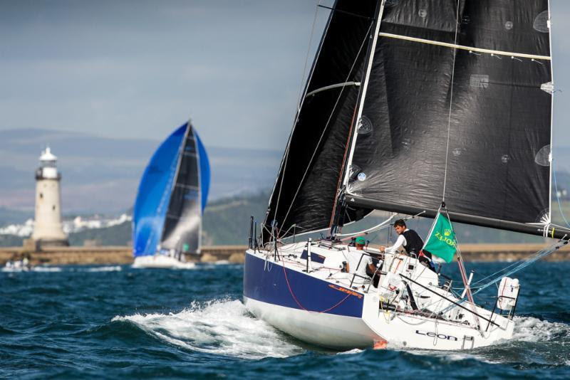 Alexis Loison and Jean-Pierre Kelbert on JPK 10.30 Léon - 2019 Rolex Fastnet Race - photo © Paul Wyeth