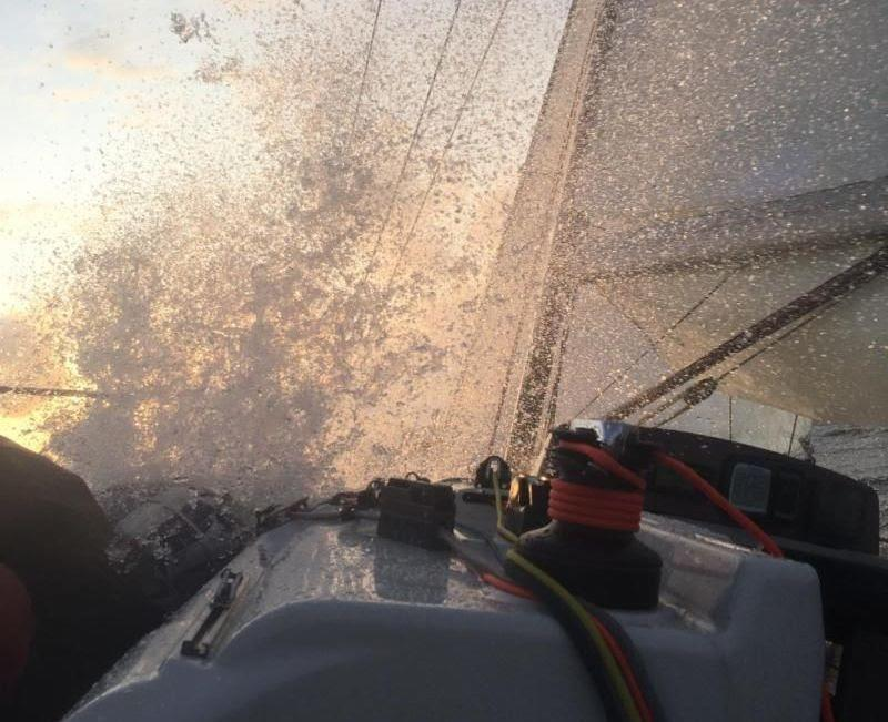Conditions aboard Sun Hill 3 were wet and wild - 2019 Rolex Fastnet Race - photo © RORC