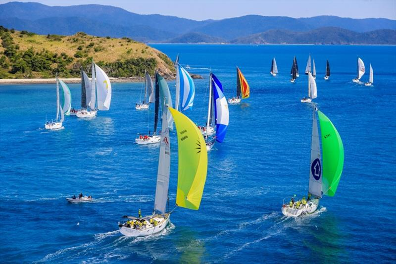 Hamilton Island Race Week, Day 2 - Fleet about to change gears