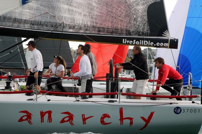 AJ Reid at helm of his YD37 Anarchy - Rolex New York Yacht Club Invitational Cup - photo © Royal New Zealand Yacht Squadron