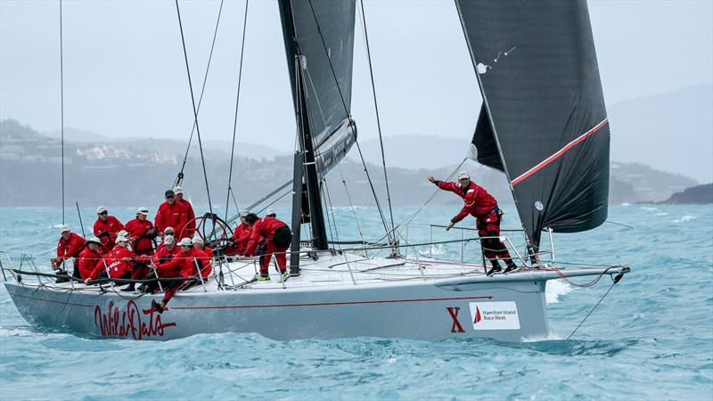 More foredeck semaphore - Wild Oats X in thre final second of pre-start - Day 6 - Hamilton Island Race Week, August 24, 2019 - photo © Richard Gladwell