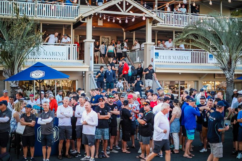 The post race debrief /party gets underway on Front Street  - Hamilton Island Race Week 2019 - photo © Craig Greenhill / www.saltydingo.com.au