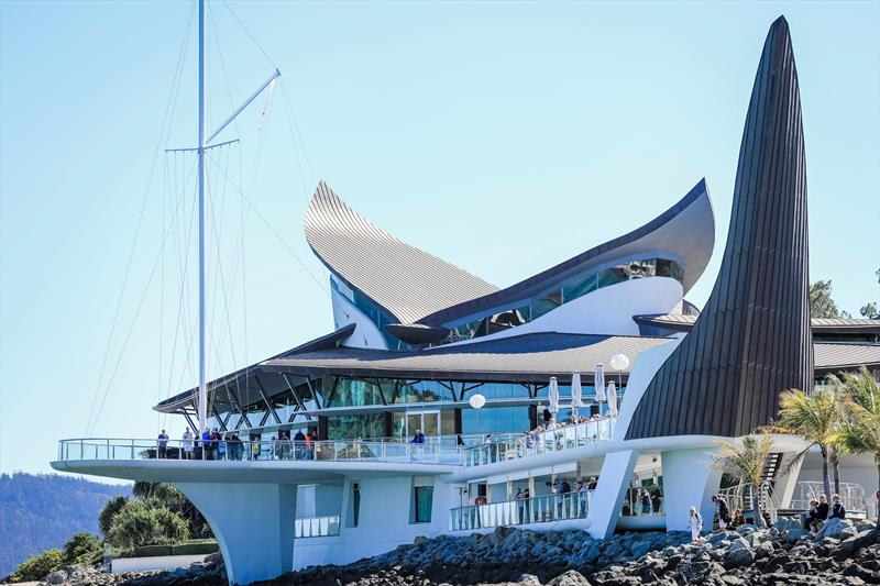 Like a sculpture - the Hamilton Island Yacht Club looks different from every angle - Hamilton Island Race Week 2019 - photo © Craig Greenhill / www.saltydingo.com.au