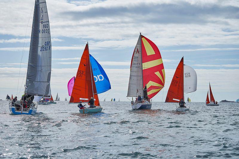 White Magic in a mixed fleet at the Why Boats Weymouth Regatta - photo © Louis Goldman / www.louisgoldmanphotography.com