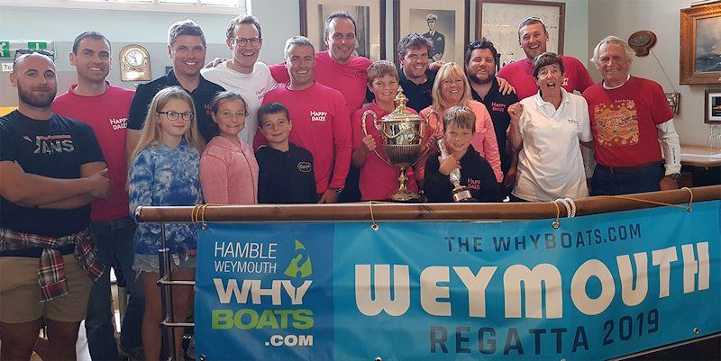 Churchill Cup presented to Happy Daize at the Why Boats Weymouth Regatta - photo © Steve Dadd