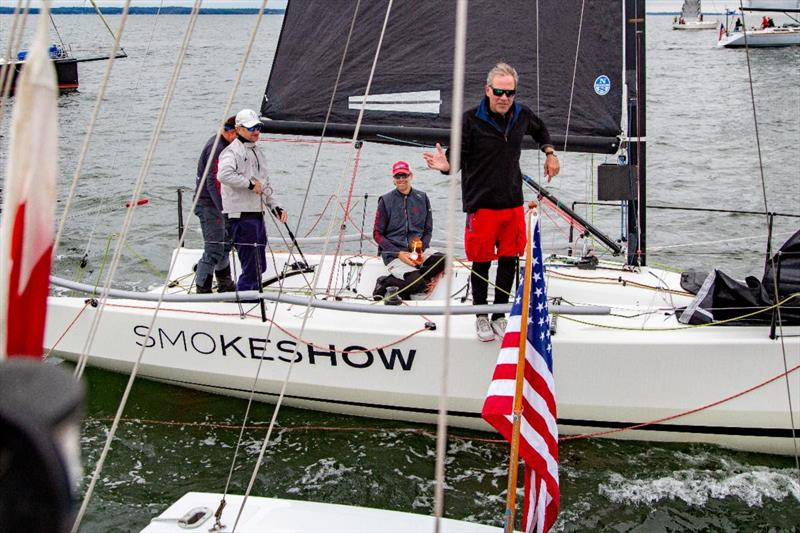 Paul Sevigny's Smokeshow checking into the Race Committee for Class 3 - The 64th Gearbuster - photo © Mary Alice Fisher