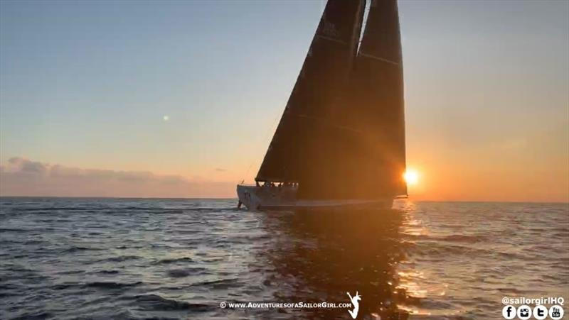 Rambler at Sunrise off Malta - Rolex Middle Sea Race 2019 - photo © Nic Douglass / www.AdventuresofaSailorGirl.com