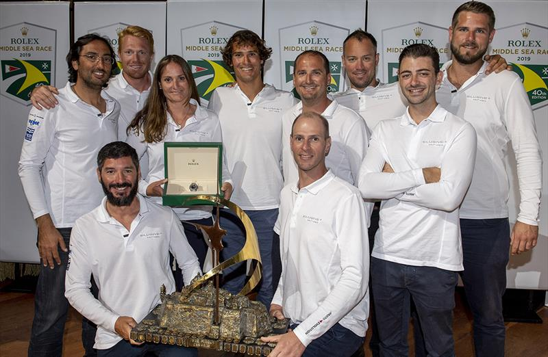 Overall winner Rolex Middle Sea Race - Crew of Elusive 2 - photo © Kurt Arrigo