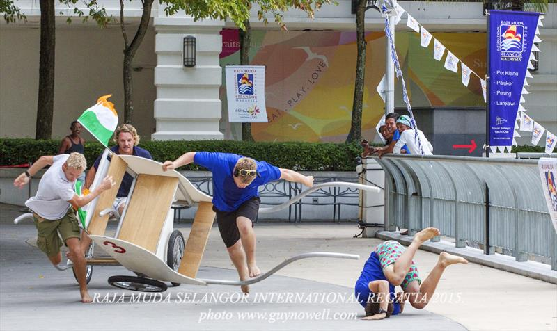 Rickshaw racing, oops! Raja Muda Selangor International Regatta 2015. - photo © Guy Nowell / RMSIR