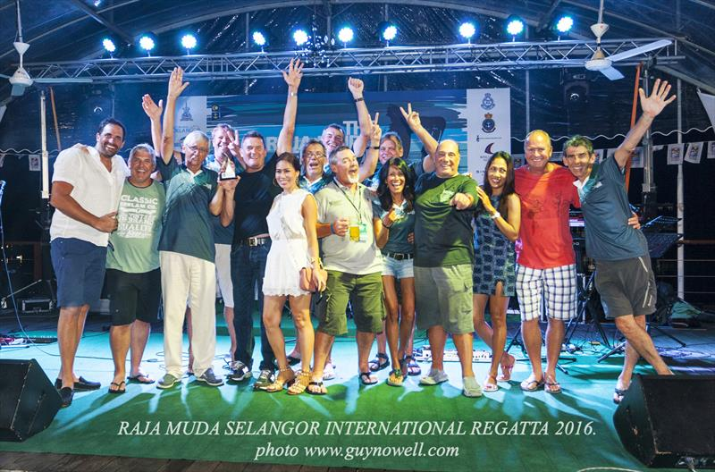 Celebration time, Raja Muda Selangor International Regatta 2016. - photo © Guy Nowell / RMSIR