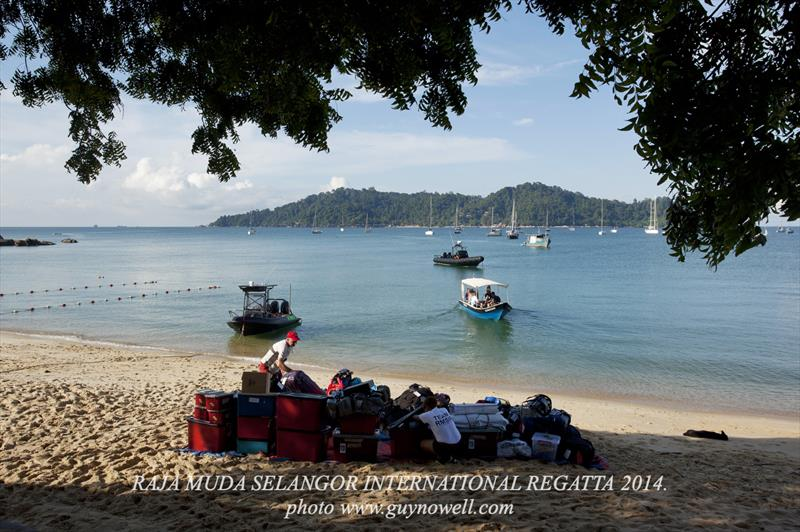 Pangkor, waiting for the baggage boat. Raja Muda Selangor International Regatta 2014. - photo © Guy Nowell / RMSIR