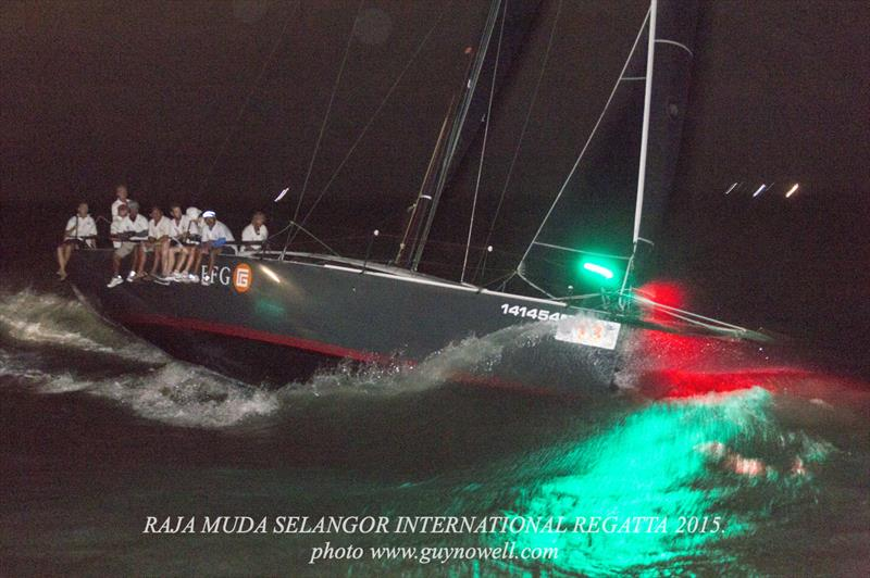 Mandrake finishes in the dark, Langkawi. Raja Muda Selangor International Regatta 2015. - photo © Guy Nowell / RMSIR