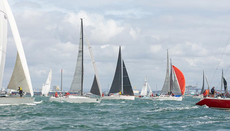The keel boats competed in a long race on the Sunday with a downwind start - Lipton Cup Regatta - photo © Damian Paull