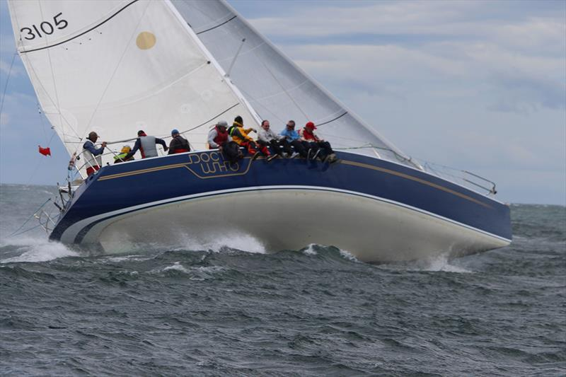 Dr Who (Roger Jackman) revelled in the heavy conditions in the Combined Clubs Summer Pennant Series - photo © Peter Watson