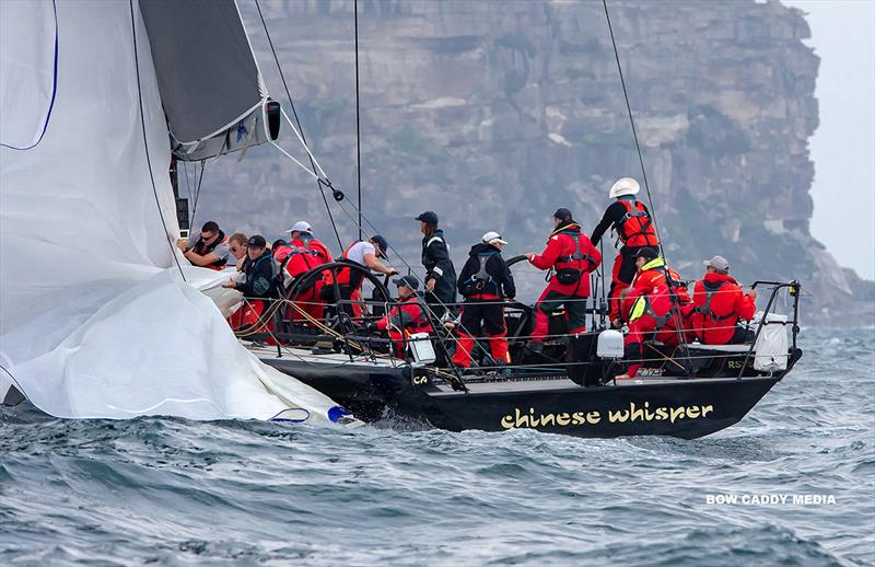 Aiming not to get eh bag wet on Chinese Whisper (get the foot in team) - CYCA Bird Island Race - photo © Bow Caddy Media