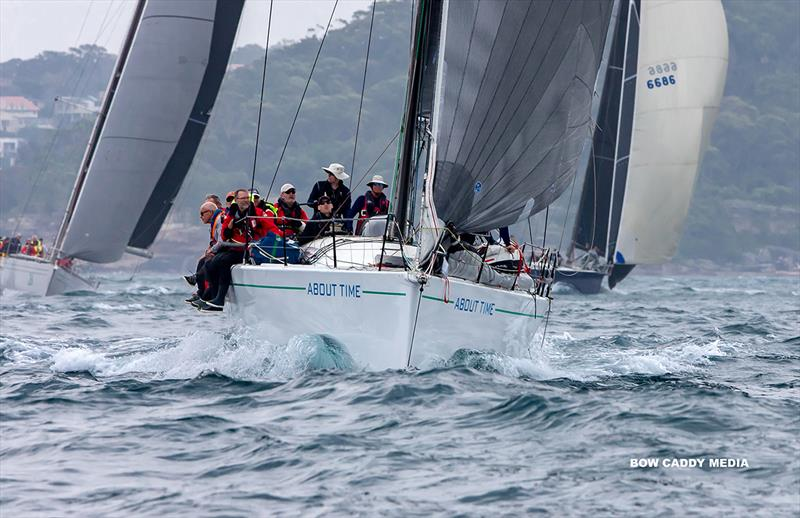 Heading out with About Time - CYCA Bird Island Race - photo © Bow Caddy Media