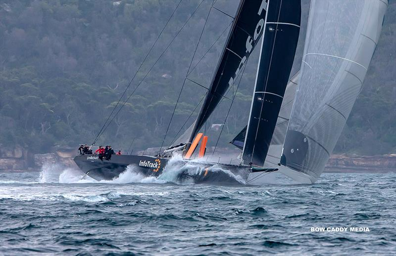 InfoTrack using the 15-20knots that was on offer as they left the Harbour - CYCA Bird Island Race - photo © Bow Caddy Media