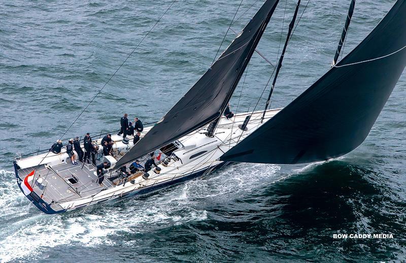 Powering along on the beam reach with Black Jack - CYCA Bird Island Race - photo © Bow Caddy Media