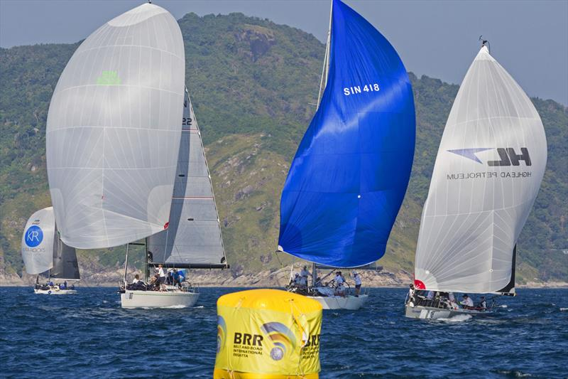 At the BRR leeward mark. Phuket King's Cup Regatta 2019.  photo copyright Guy Nowell / Phuket King's Cup taken at Royal Varuna Yacht Club and featuring the IRC class