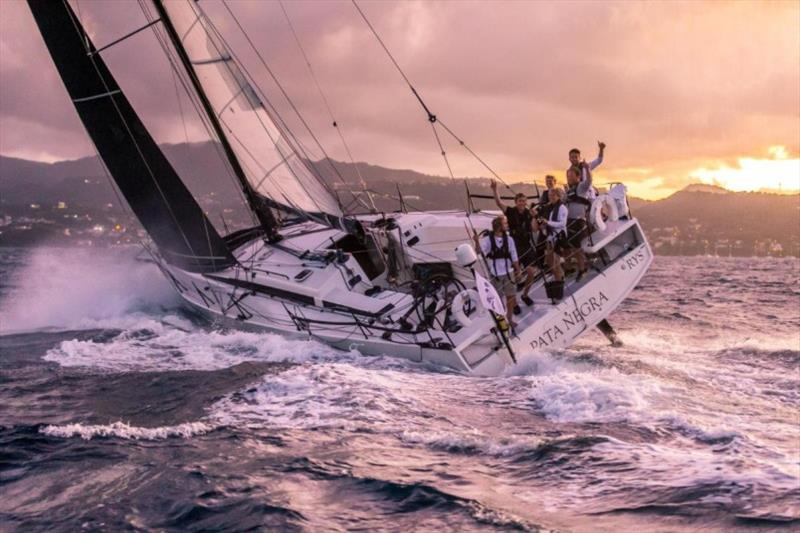 All smiles in Grenada - Andy Lis and the young crew racing on Giles Redpath's Lombard 46 Pata Negra completed the RORC Transatlantic Race in an elapsed time of 15 days 22 hrs 58 mins 13 secs - photo © RORC / Arthur Daniel