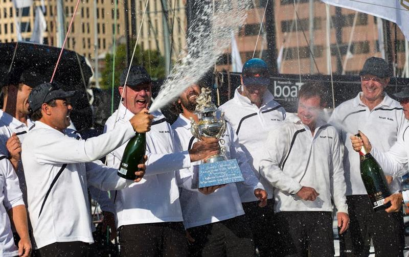Ichi Ban claims the Tattersall Cup in the 2019 Rolex Sydney Hobart Yacht Race photo copyright Andrea Francolini taken at Cruising Yacht Club of Australia and featuring the IRC class
