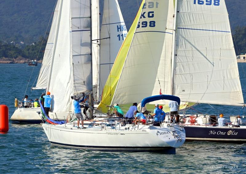 Neck and neck, Ichiban and No One Else - Monsoon Winter Series 2019, Race 4 photo copyright Hebe Jebes taken at Hebe Haven Yacht Club and featuring the IRC class