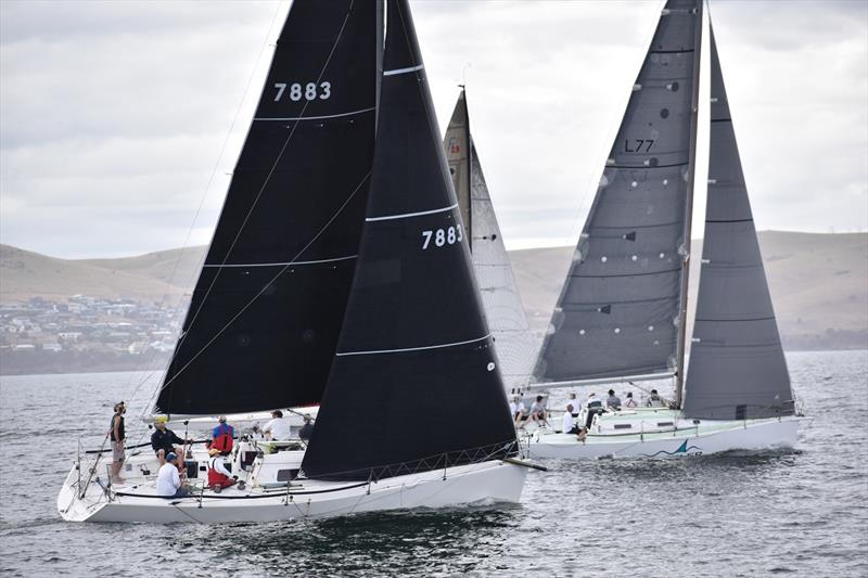 Gavin Adamson (Madness) sailing in the Combined Clubs Summer Pennant Series in Hobart © Jane Austin