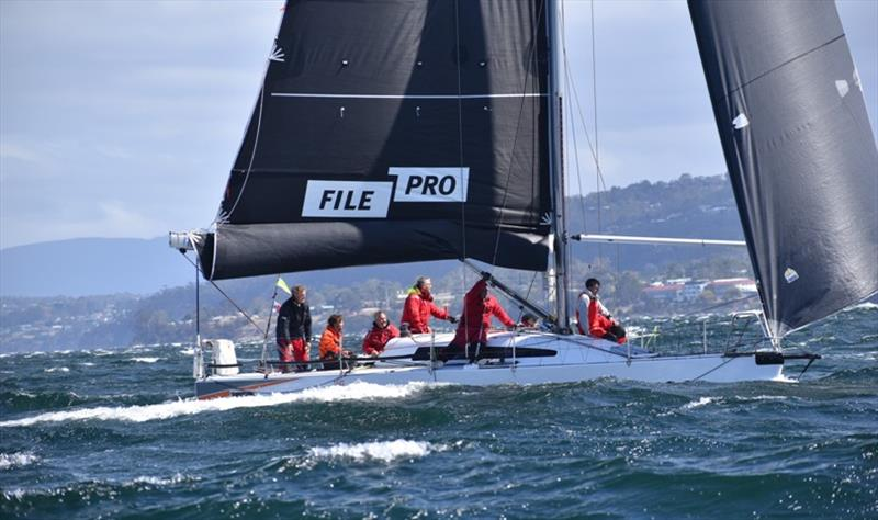 FilePro handled the difficult conditions on the River Derwent to win Racing Division 1 on Performance Handicap - Banjo's Shoreline Crown Series Bellerive Regatta 2020 - photo © Jane Austin