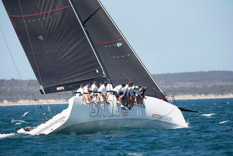 Geoff Boettcher's Secret Men's Business sits in second overall by just half a point - 2020 Teakle Classic Lincoln Week Regatta - photo © Joe 'Bugs' Puglisi