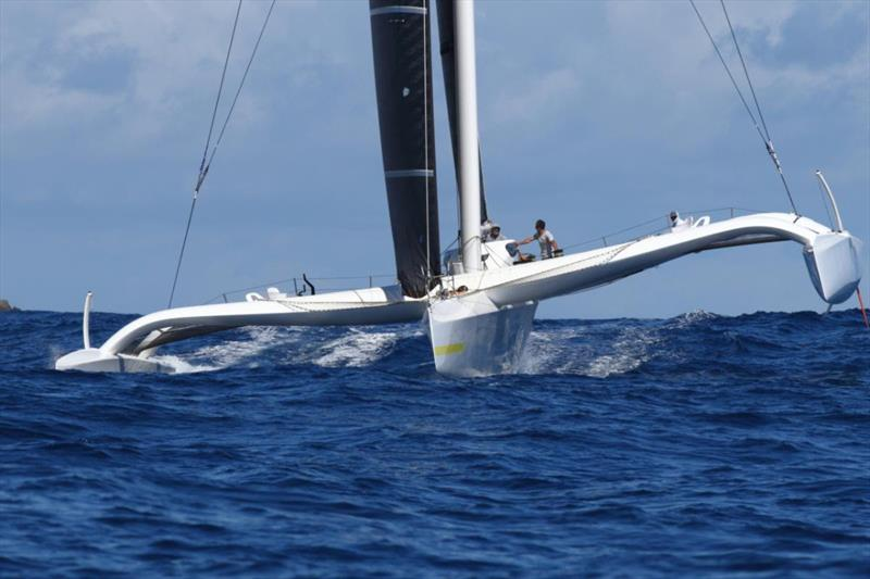 Multihull Line Honours battle is on: Jason Carroll's Argo (USA) at St Barths - RORC Caribbean 600 - photo © Tim Wright / photoaction.com