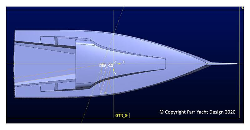 X2 by Farr deck layout - aerial photo copyright Farr Yacht Design taken at  and featuring the IRC class