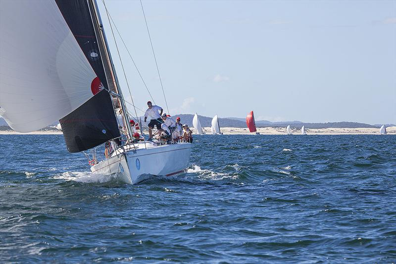 Nine Dragons racing offshore from Port Stephens - photo © John Curnow