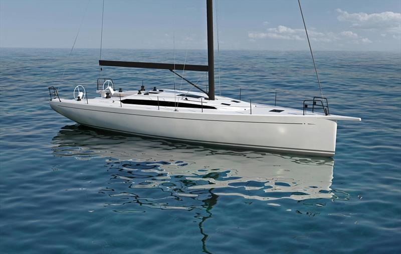 The Italia 14.98 is a new Matteo Polli design by Italia Yachts and is available as a Sport or Blue Water model. Hull No. 1 won't get wet until August, but that won't slow down the online fleet sailing this high-performance cruiser/racer. - photo © Newport Bermuda Race