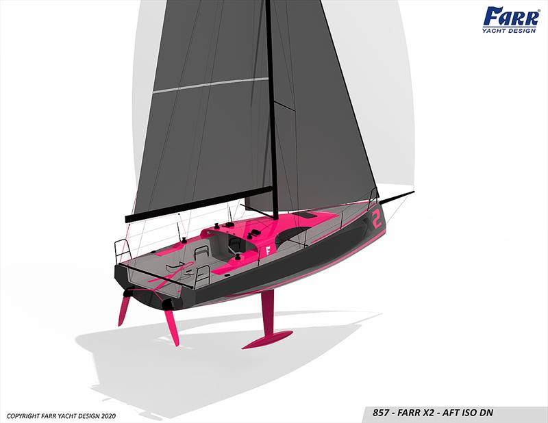 The X2 by Farr looks ever more the racer she was always going to be! Project number 857 by Farr Yacht Design BTW - photo © Farr Yacht Design