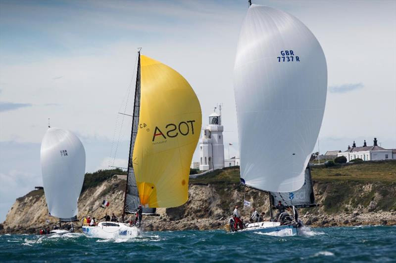 At St. Catherine's Point - racing around the Isle of Wight in the Commodore's Cup - photo © Paul Wyeth / pwpictures.com